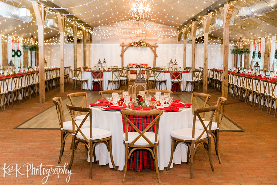 Christmas wedding reception at the Carriage House Stable
