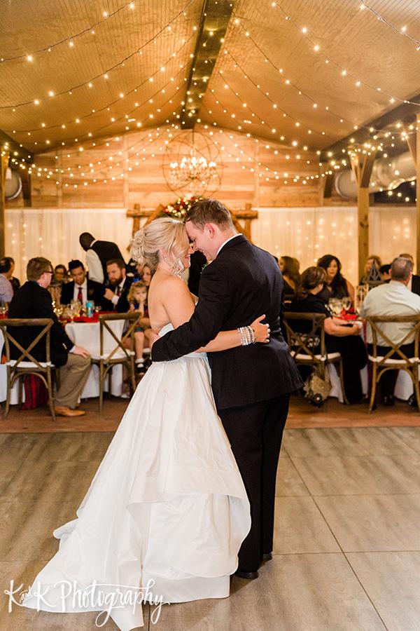 Lauren and Jordan during their first dance