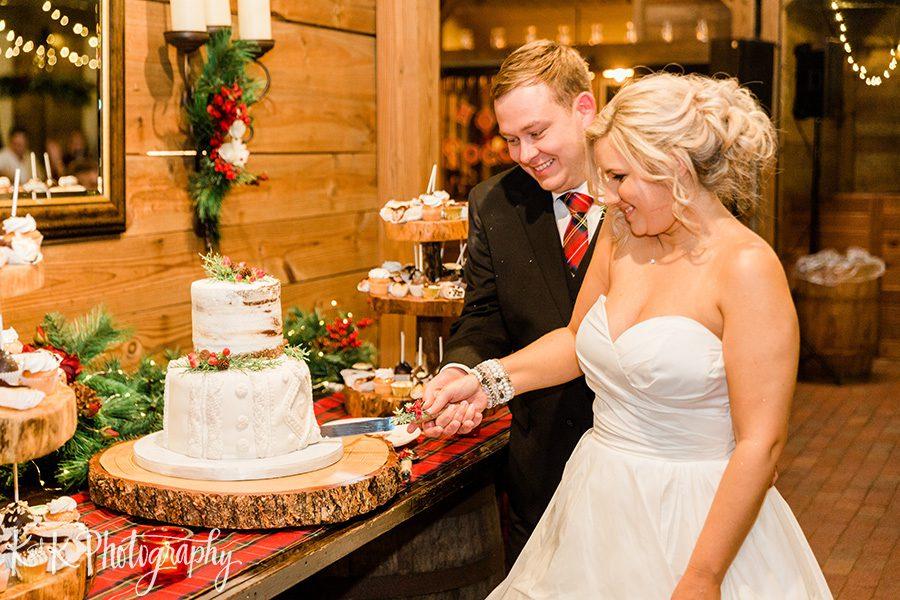 Lauren and Jordan cake cutting