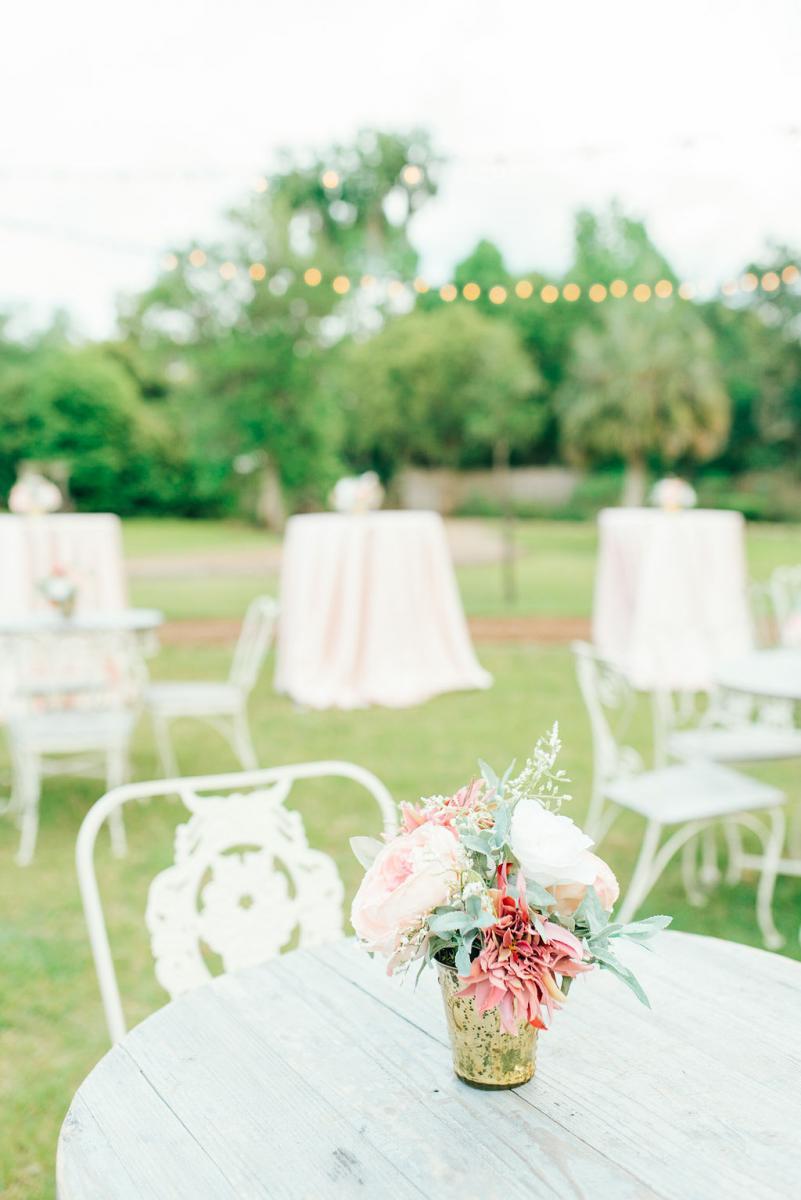 Elegant wedding cocktail tables