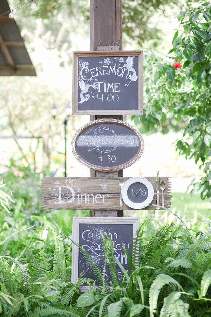 Customized wedding day timeline