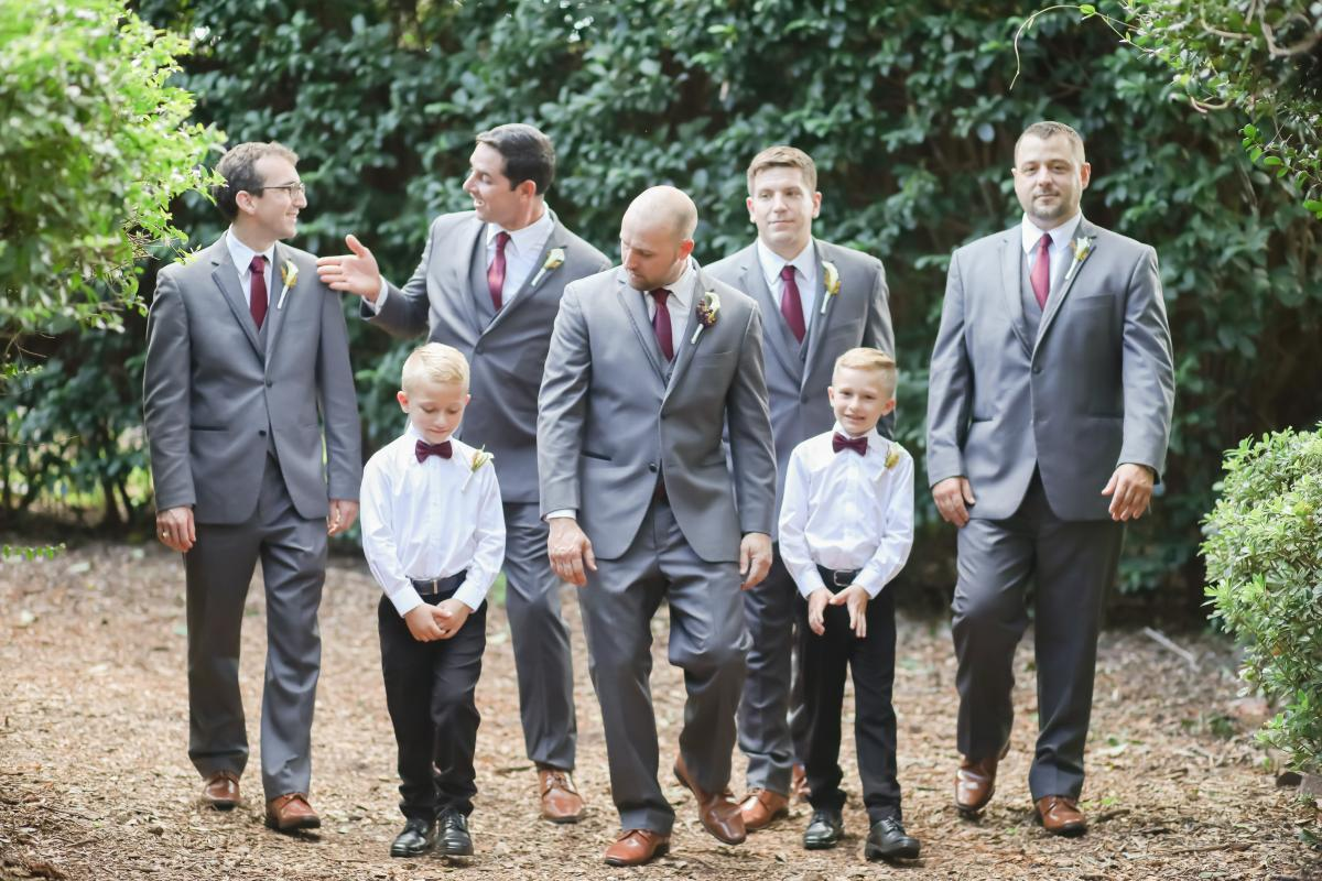 Anthony and his groomsmen