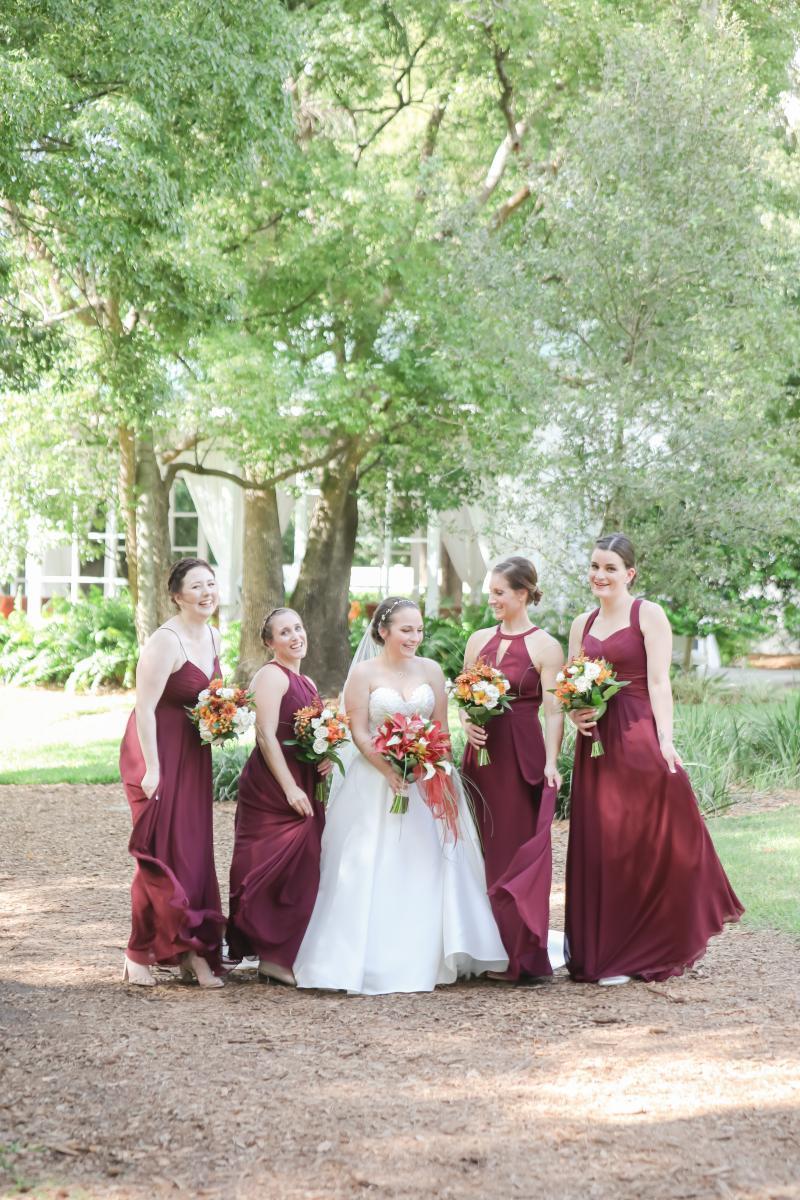 Laura and his bridesmaids
