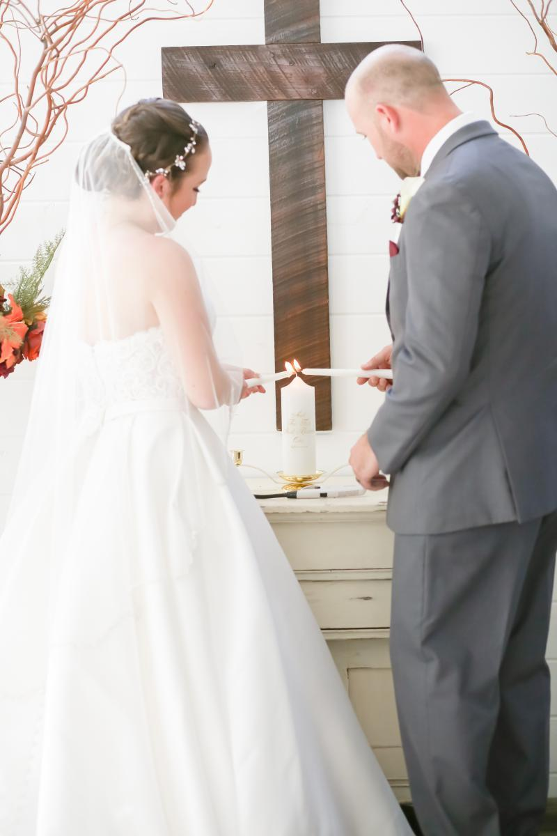Candlelit wedding unity ceremony