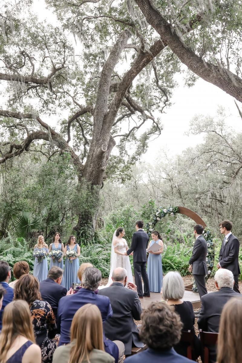 Forest wedding ceremony in Florida