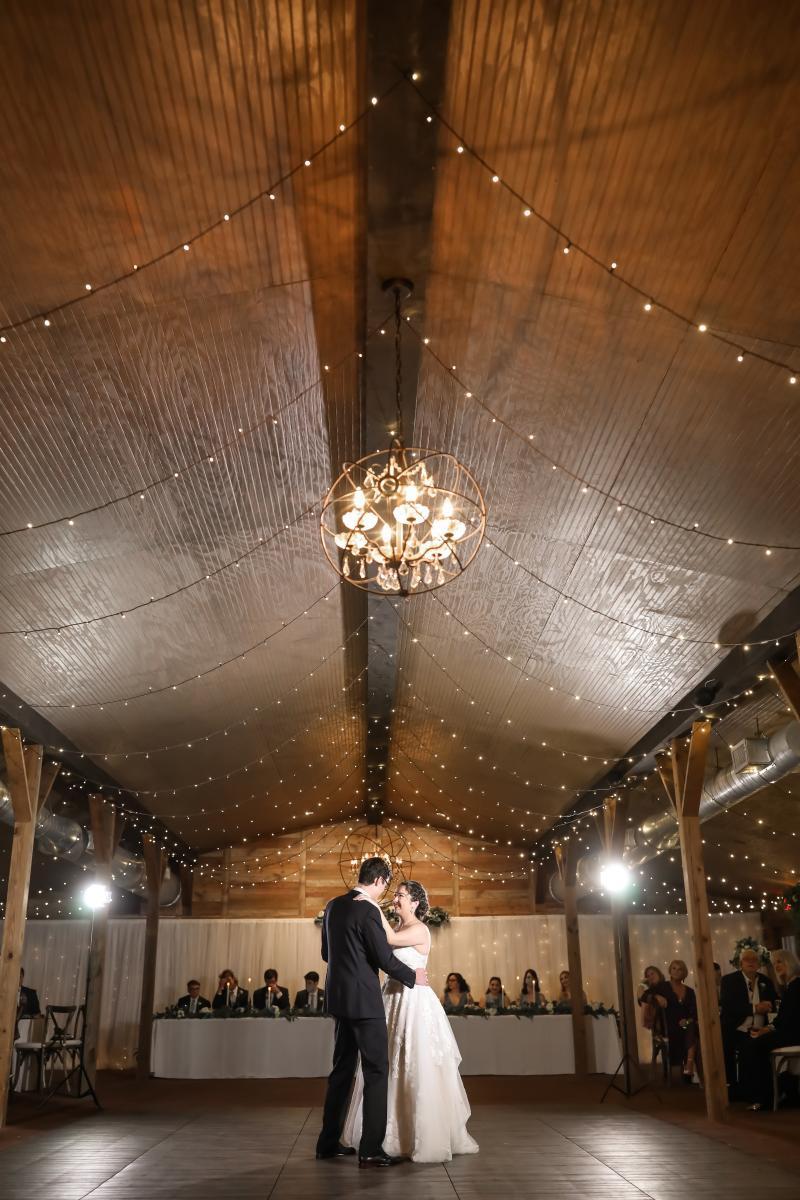 First dance inside our Florida barn wedding venue