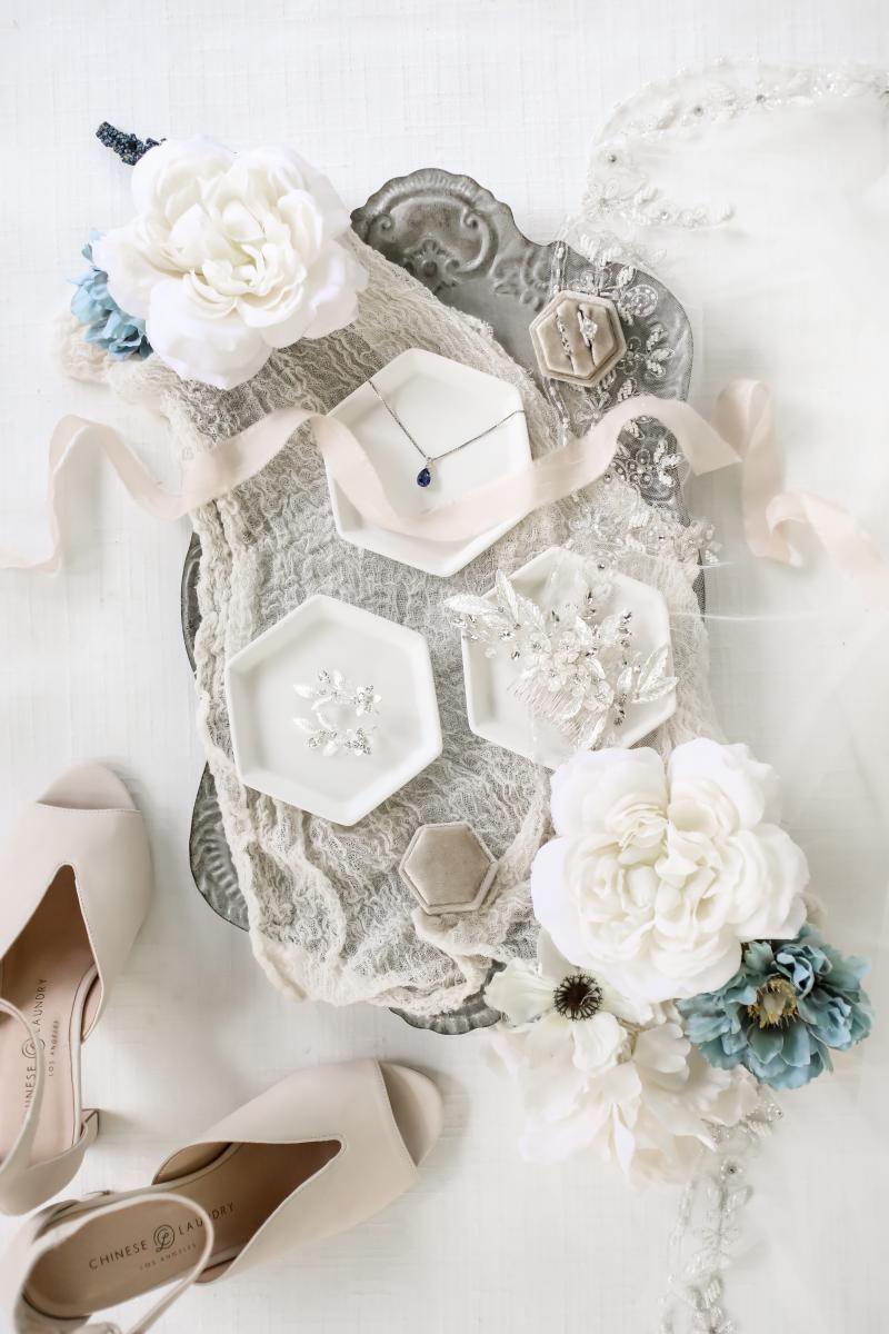 Wedding details flat lay photos
