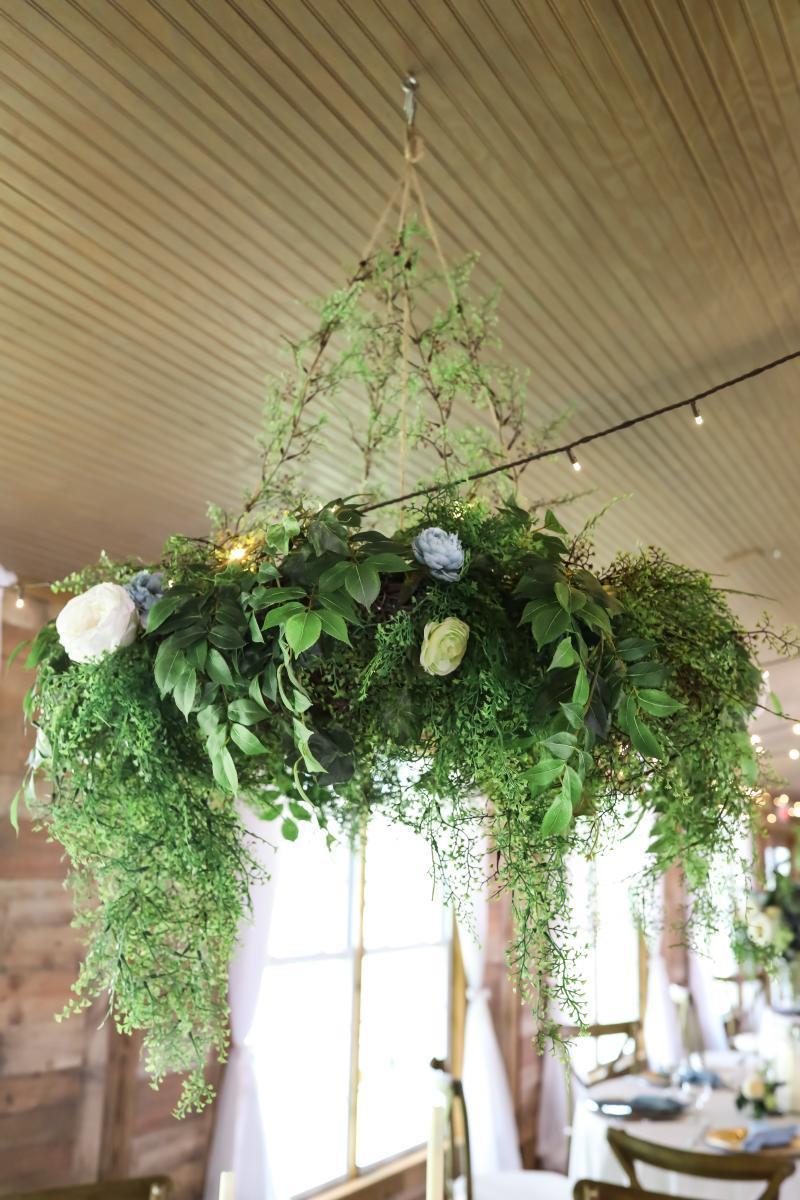 Greenery filled wedding details