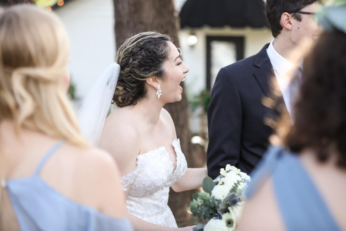 Bride's reaction to her fun wedding party tattoos