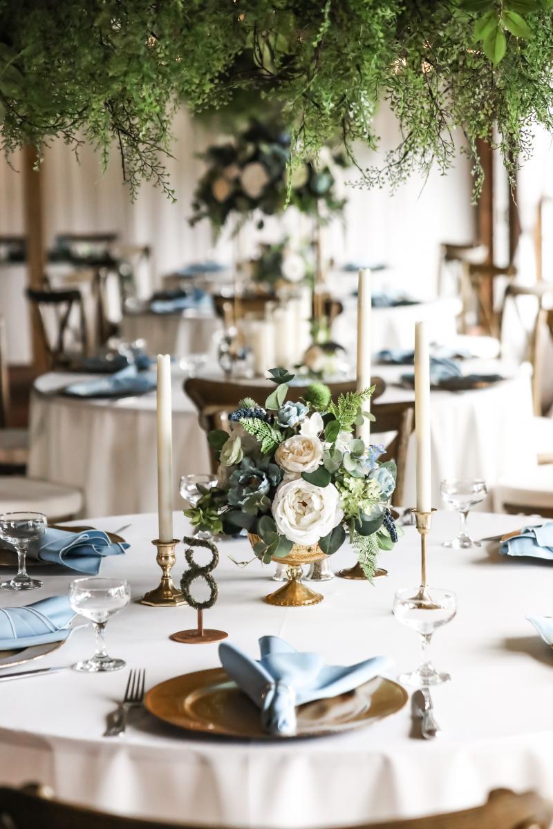 Enchanting candlelit wedding centerpieces