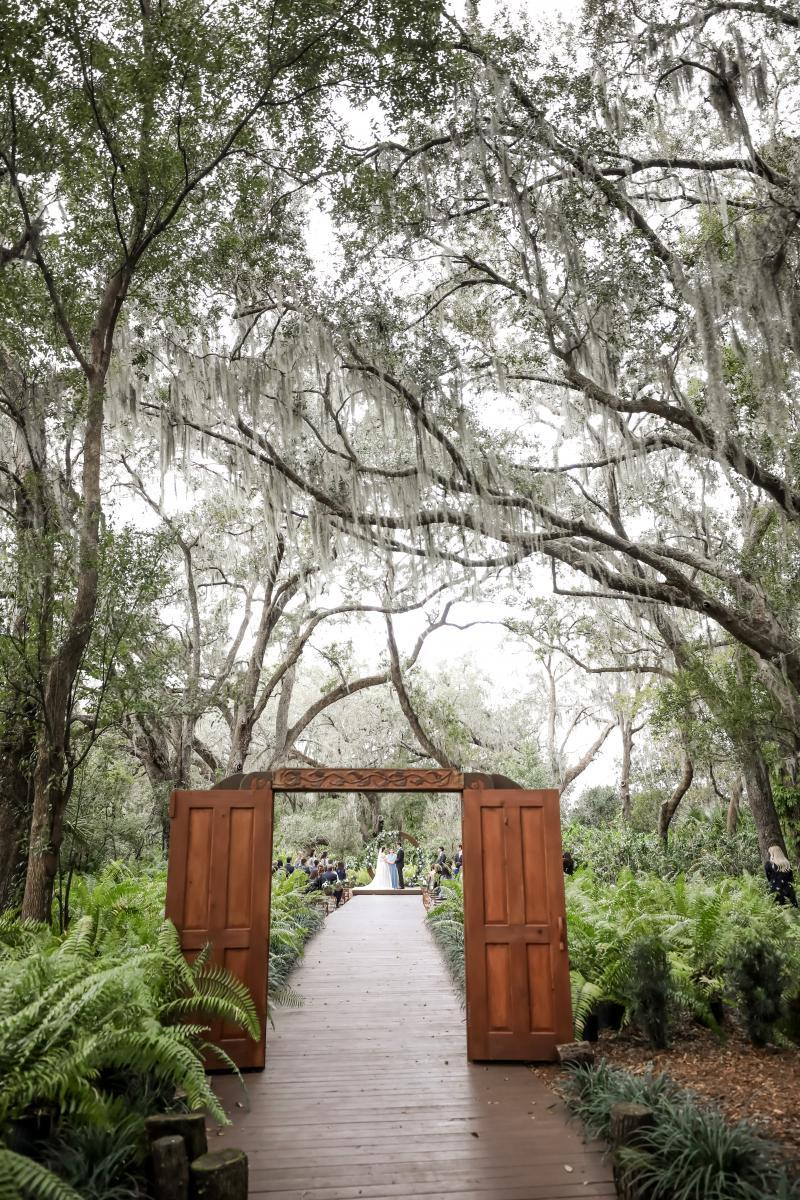 Romantic Enchanted Forest wedding in Florida