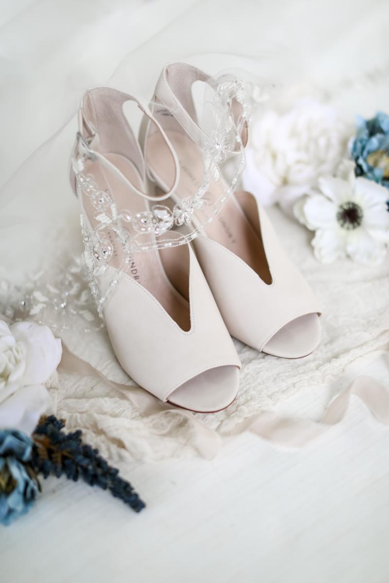 Modern elegant wedding shoes