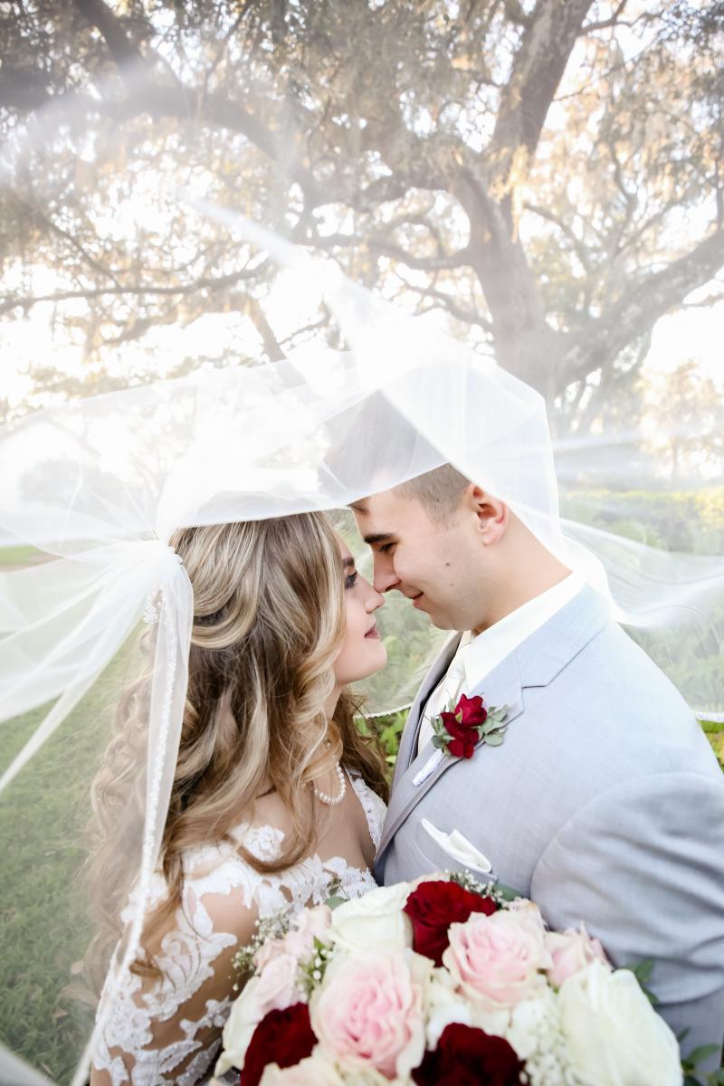 Wedding veil photos