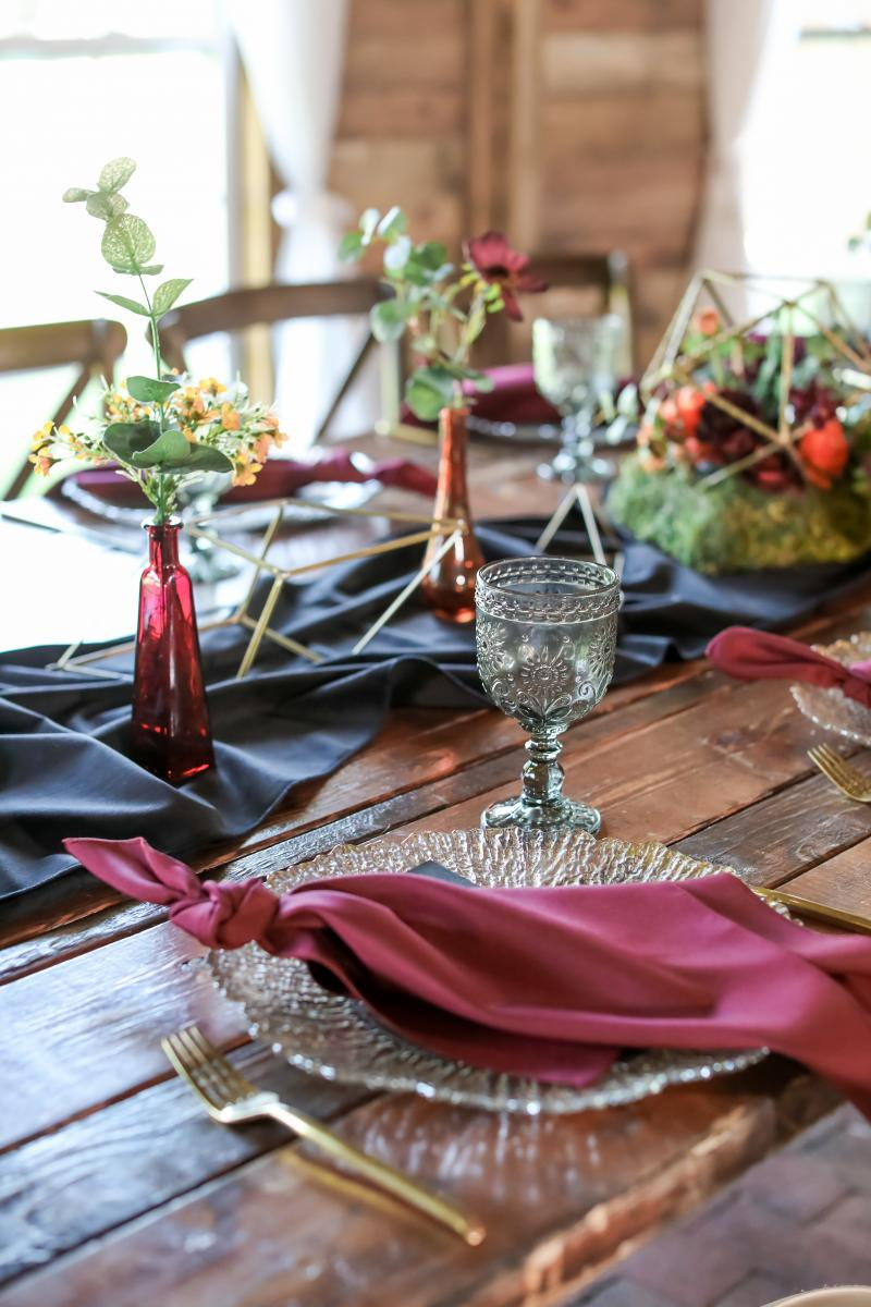 Moody boho table decor