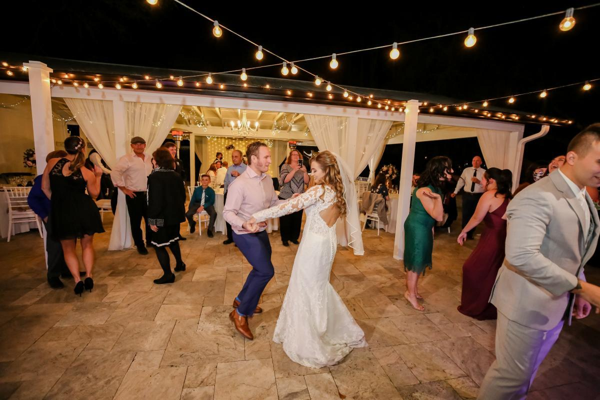 Wedding reception underneath the stars