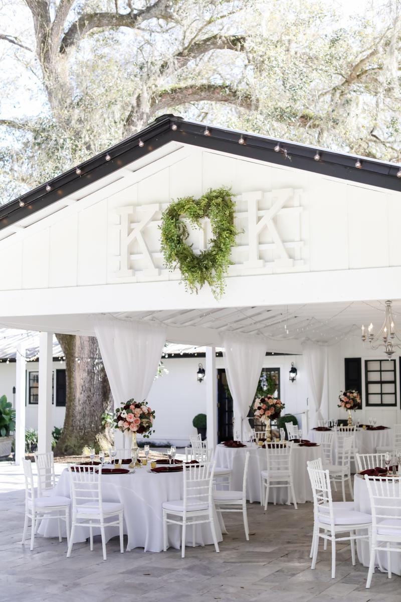 Intimate outdoor wedding venue in Florida