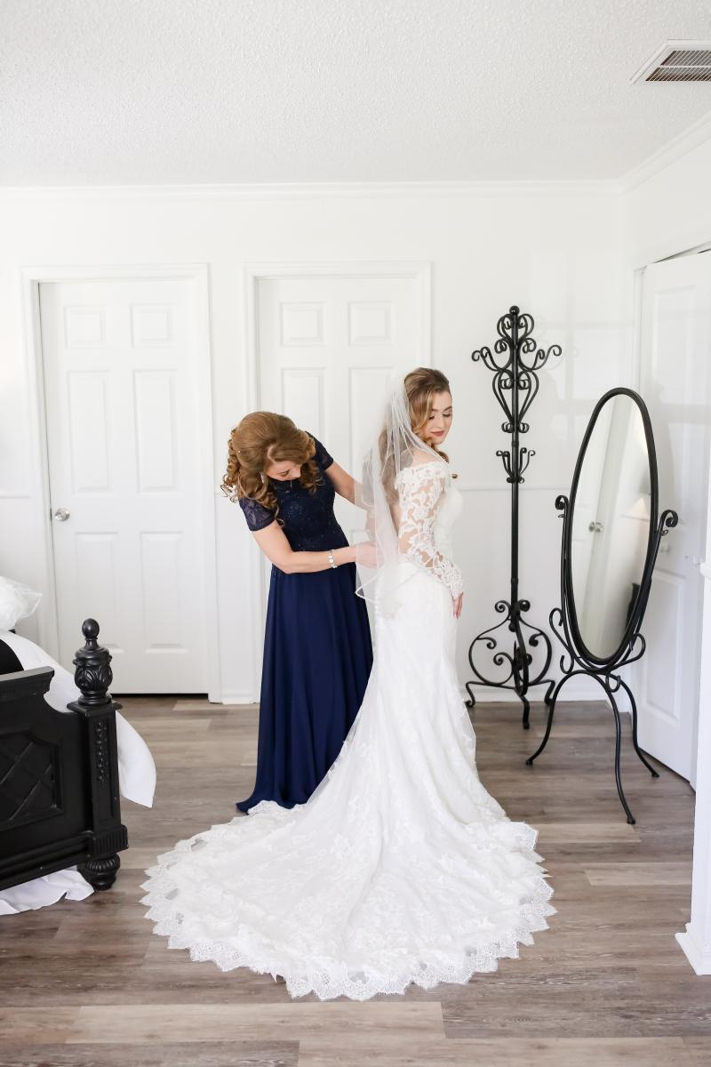 Bridal getting ready room at the French Country Inn