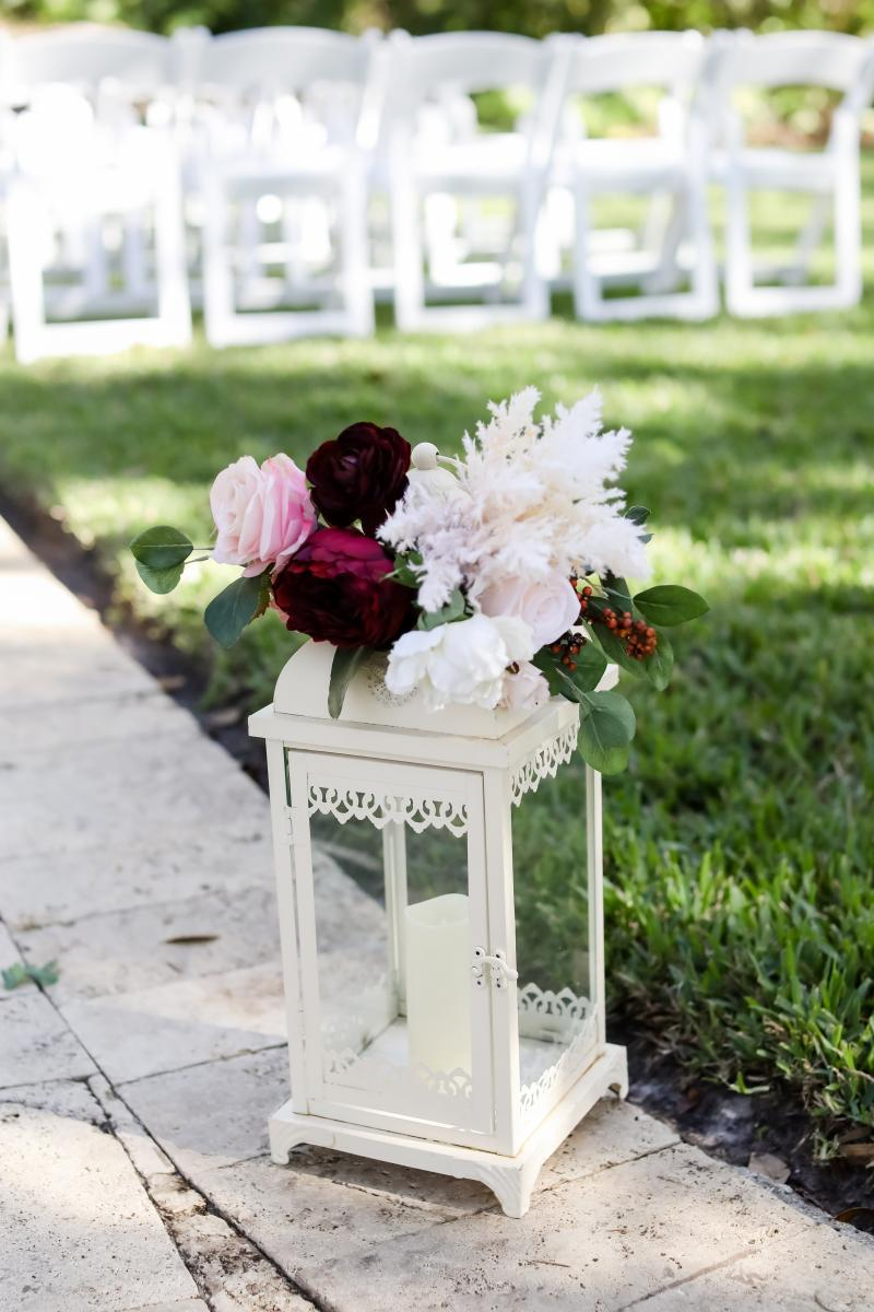 Elegant vintage wedding ceremony decor