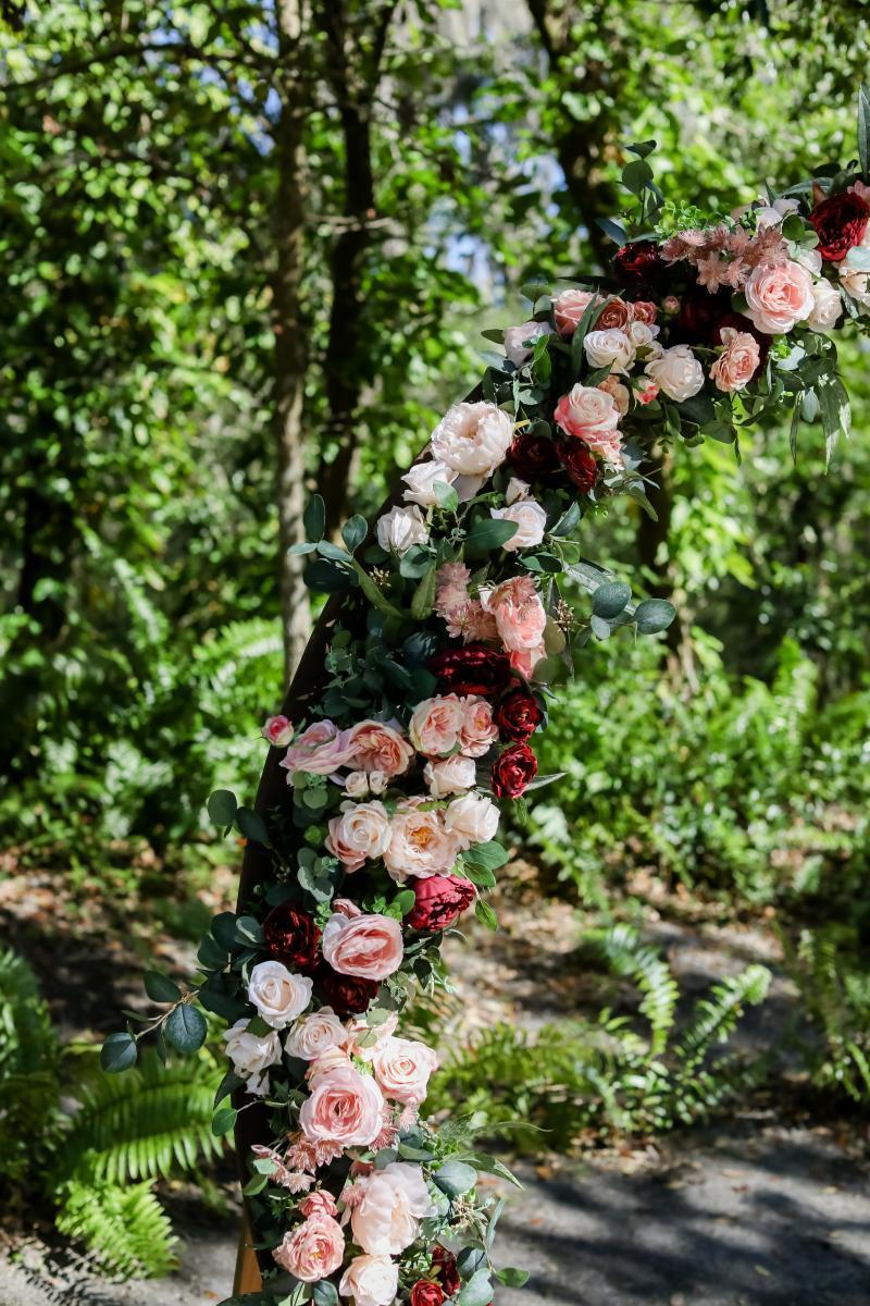Wedding ceremony flower decor