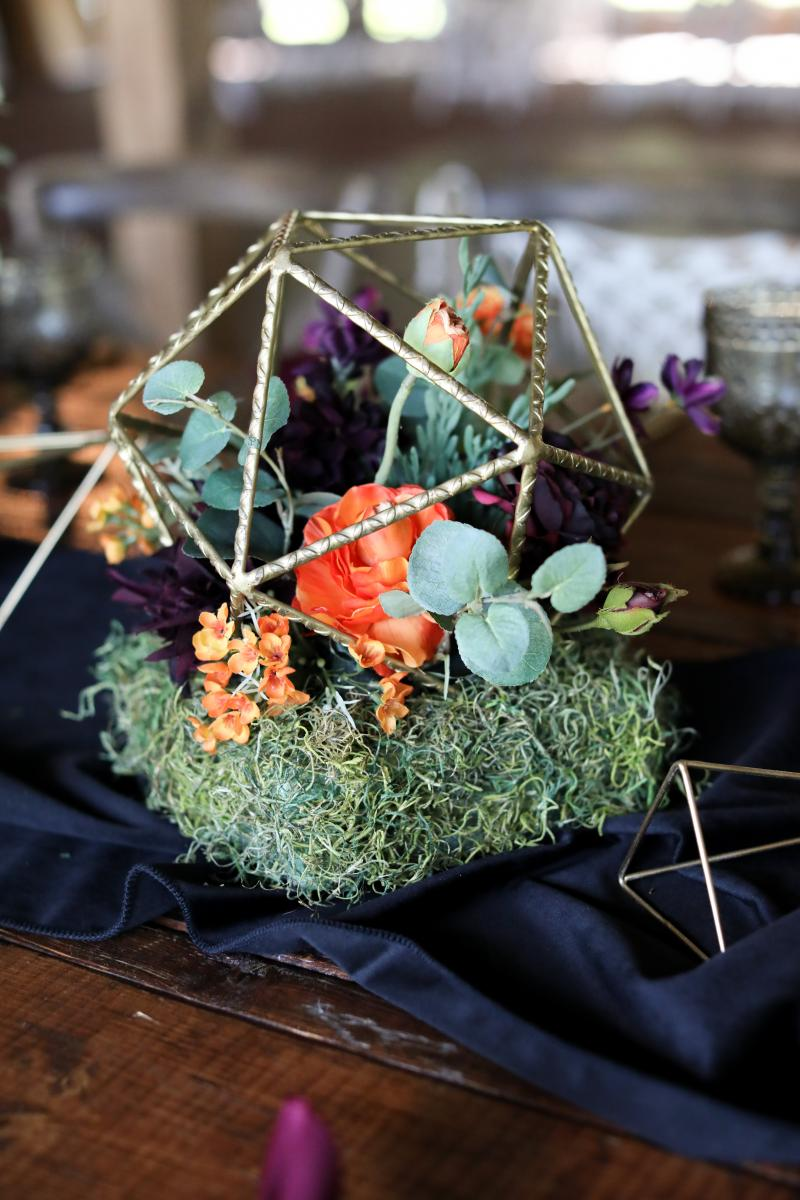 Moody boho table centerpieces