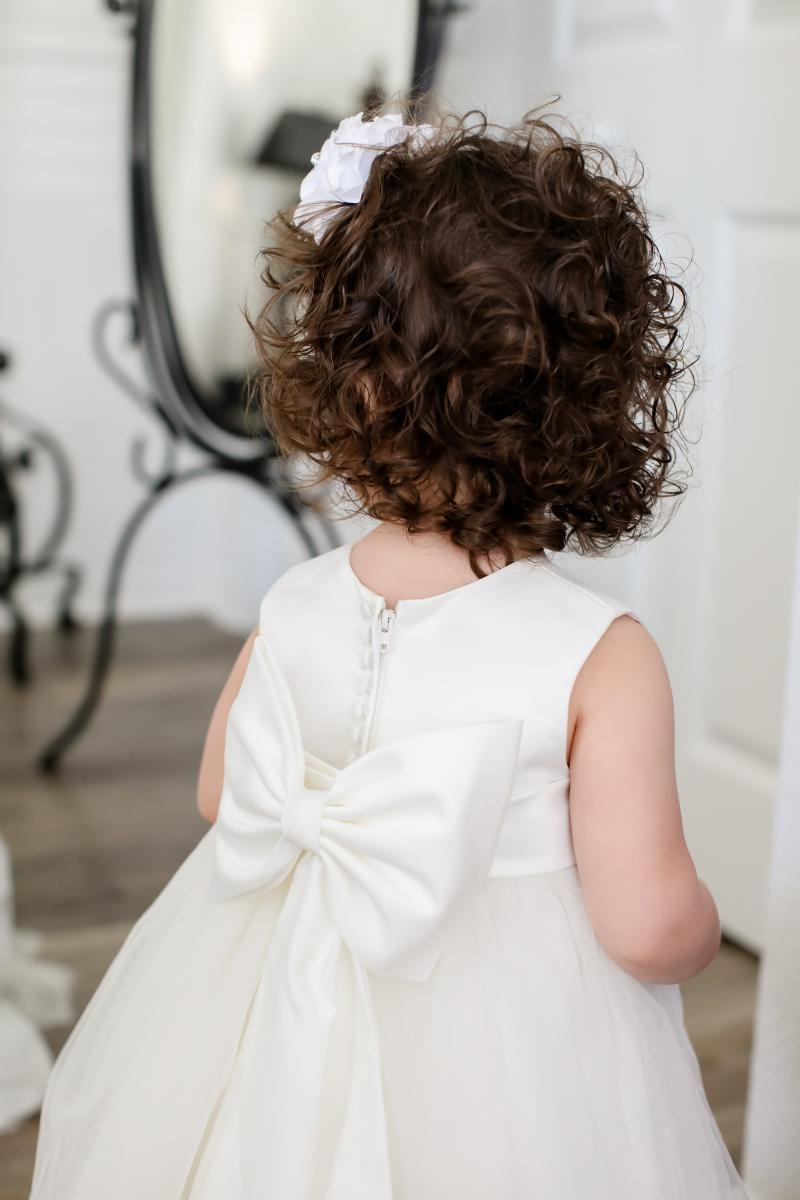 Adorable flower girl dress with bows