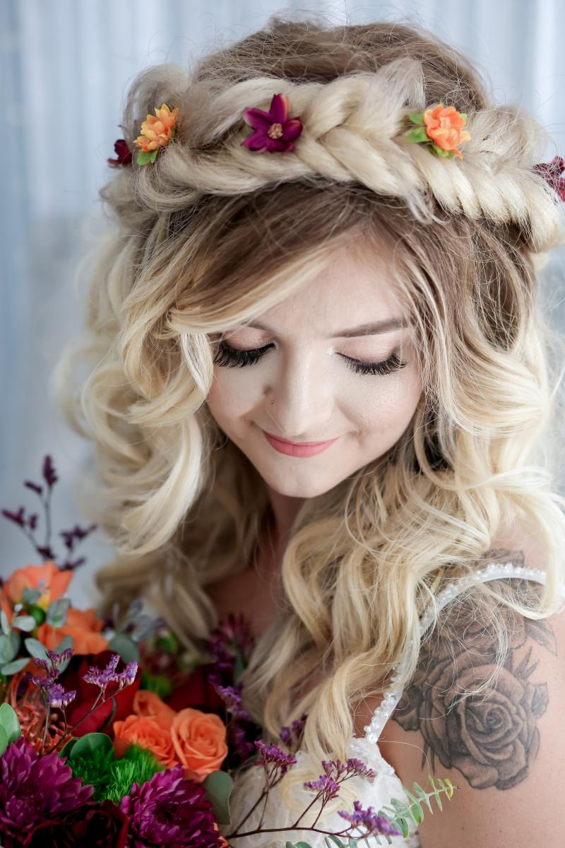 Moody boho hair and makeup