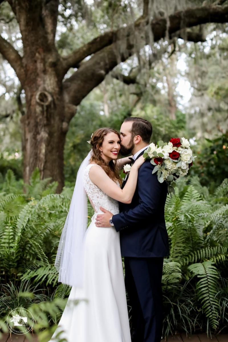 Sweetheart photos in a forest
