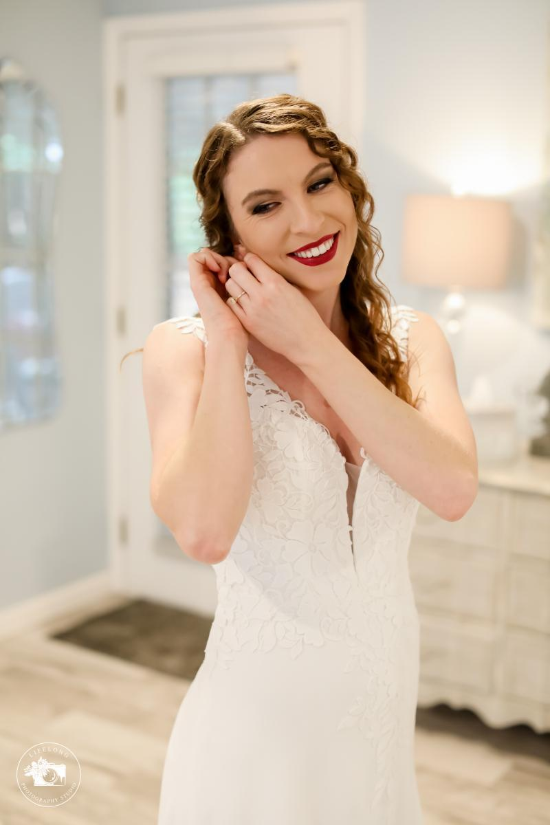Katherine getting ready for her wedding day