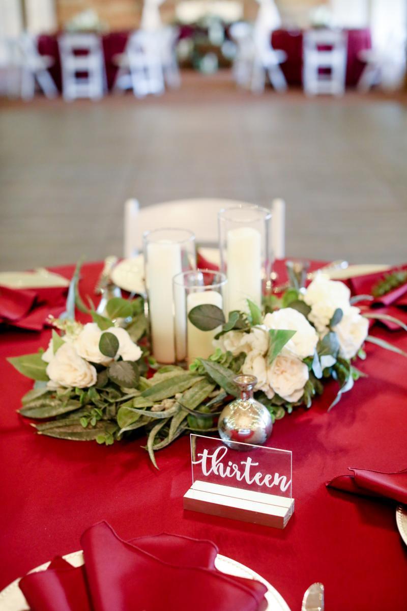 Candlelit wedding centerpieces