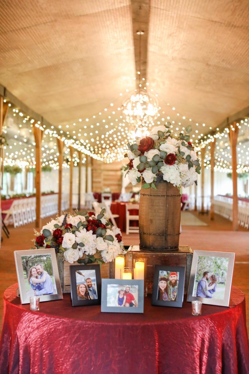 Maroon and cream wedding