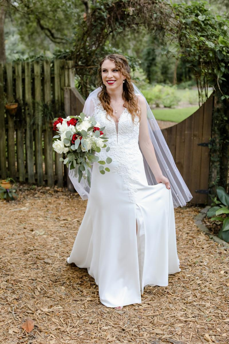 Katherine made a stunning bride in her wedding gown
