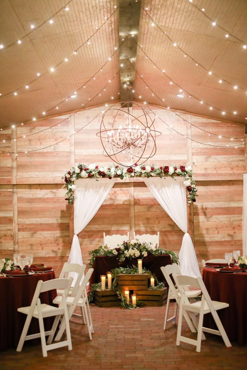 Candlelit sweetheart table