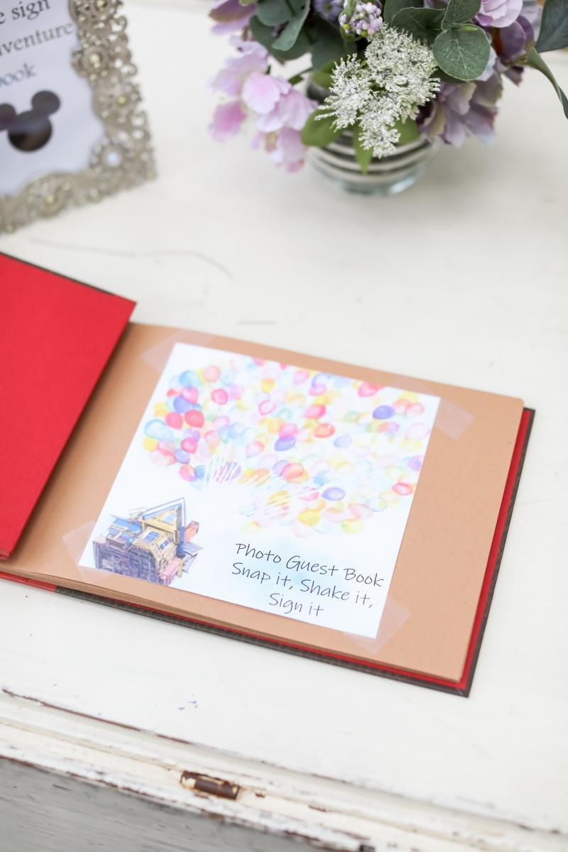 Disney wedding guest book