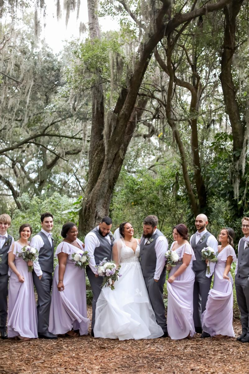 Wedding party pictures and attire