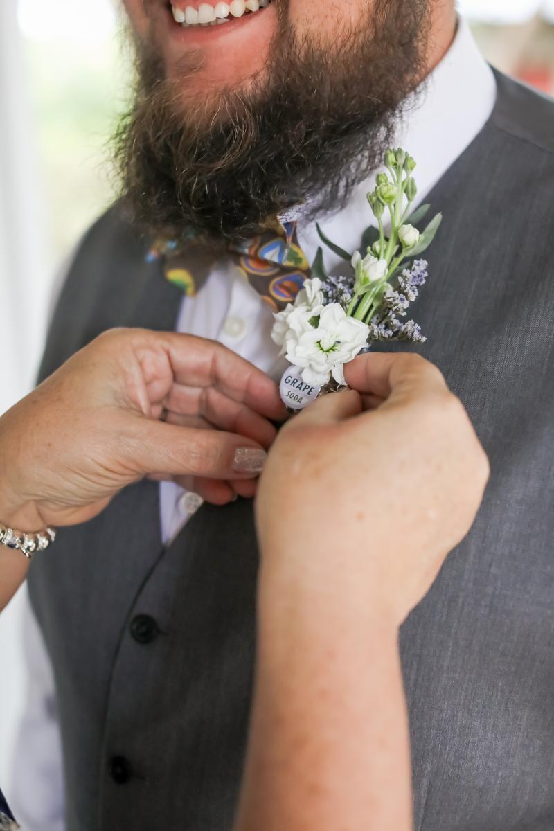 Disney inspired wedding boutonniere