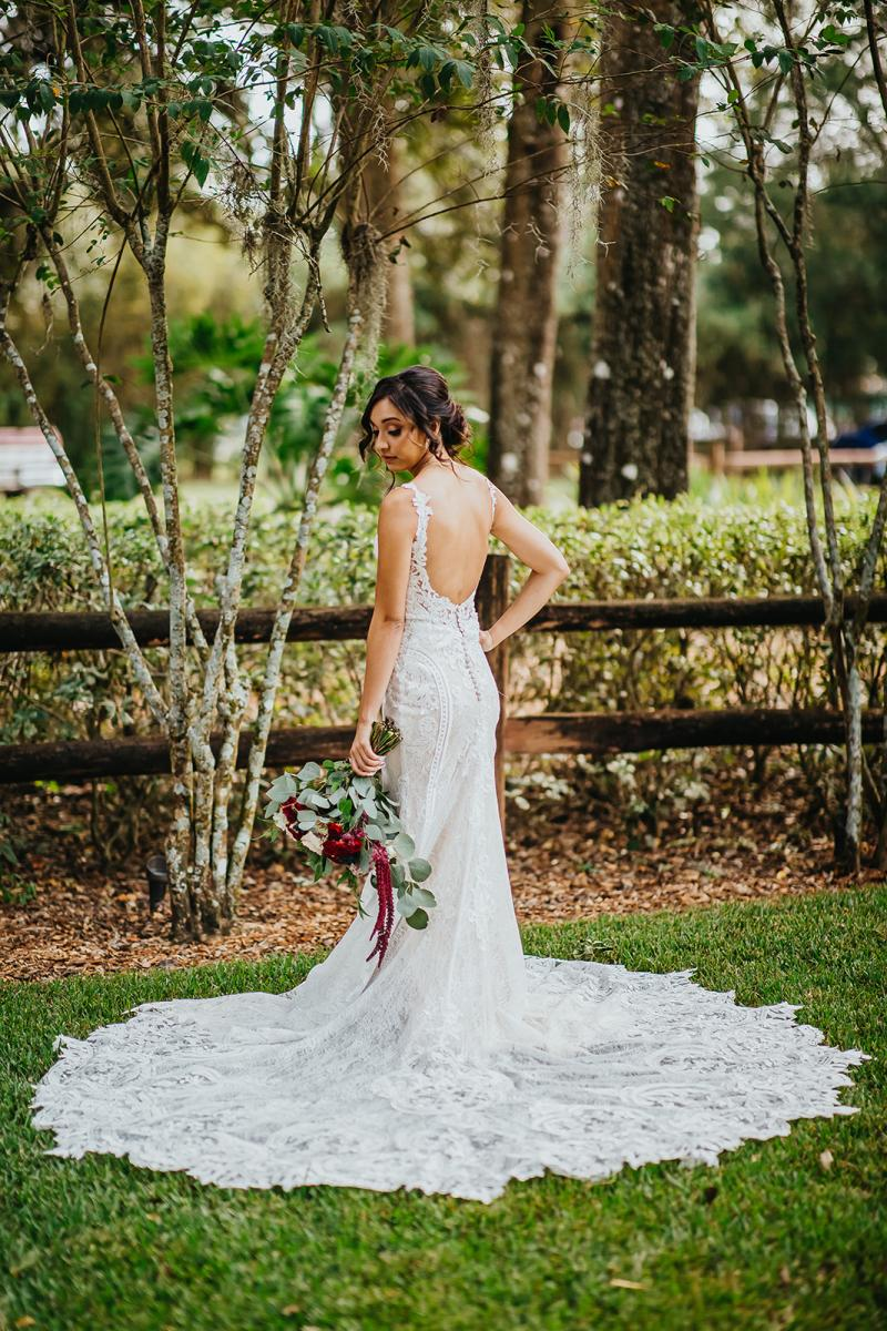 Tahai's gorgeous open back wedding dress