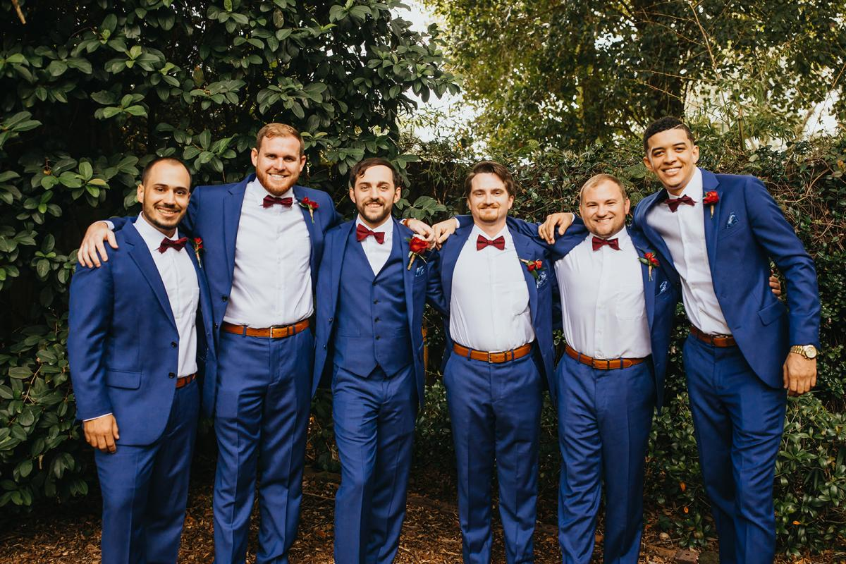 Michael and his groomsmen