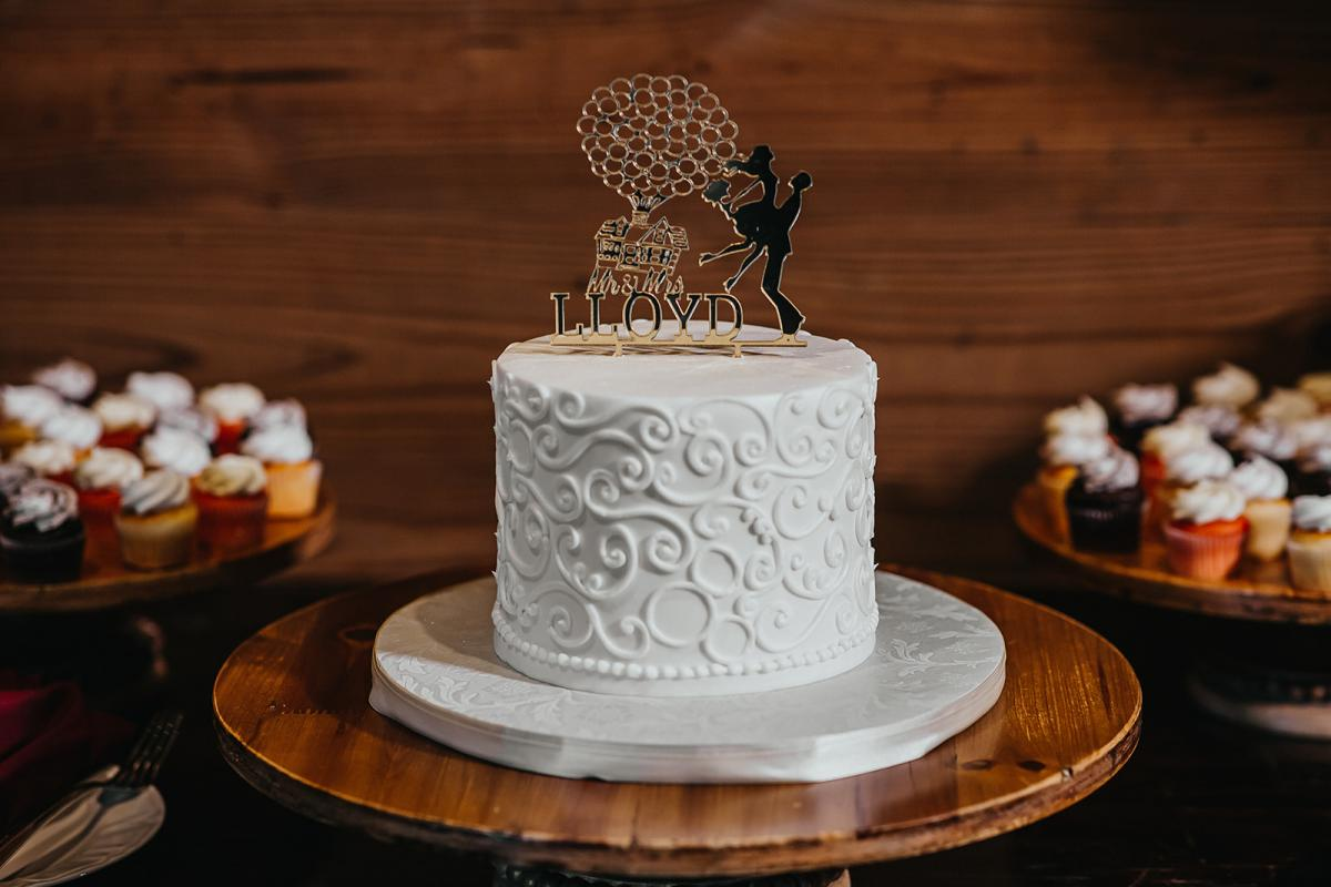 Disney-inspired wedding cake