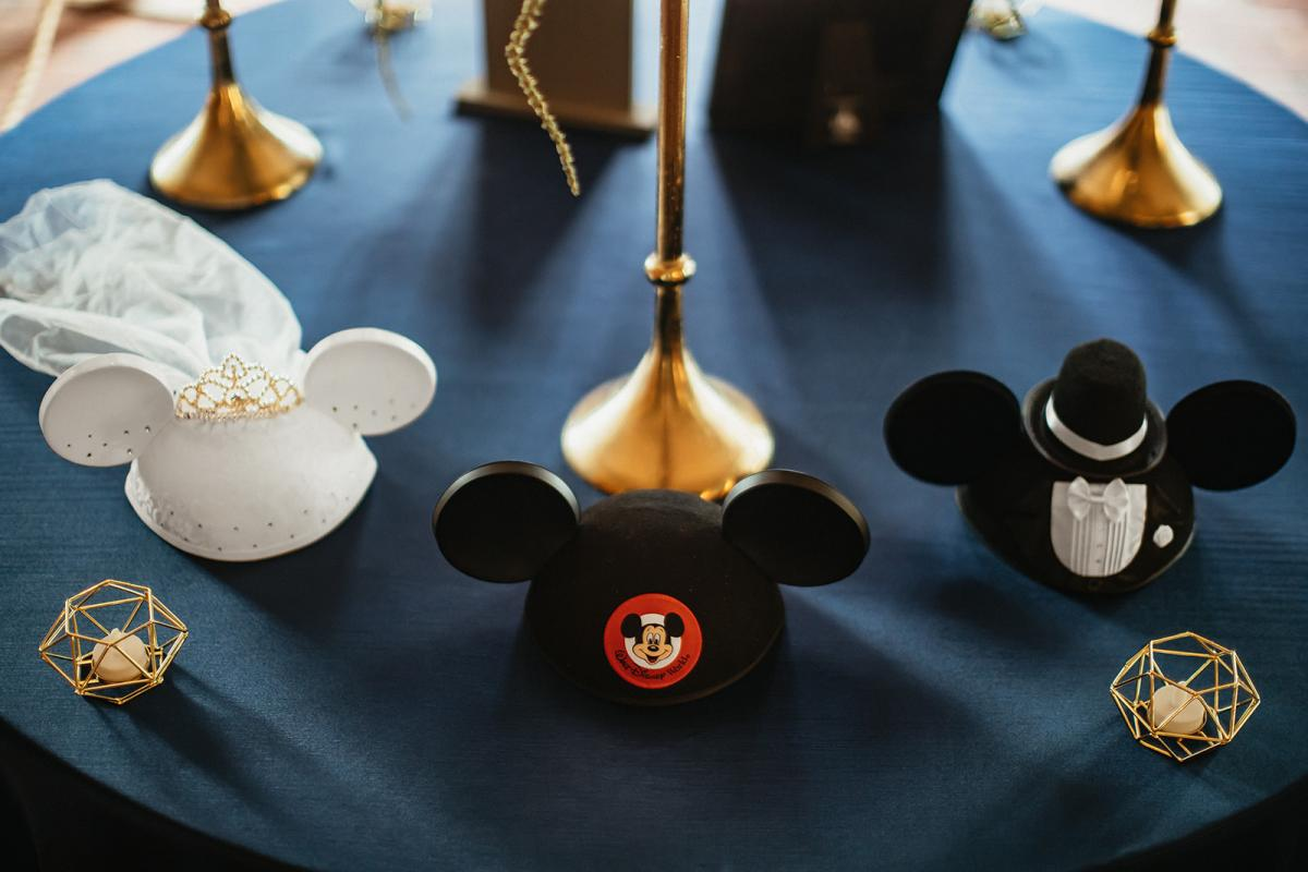 Disney-inspired wedding day details