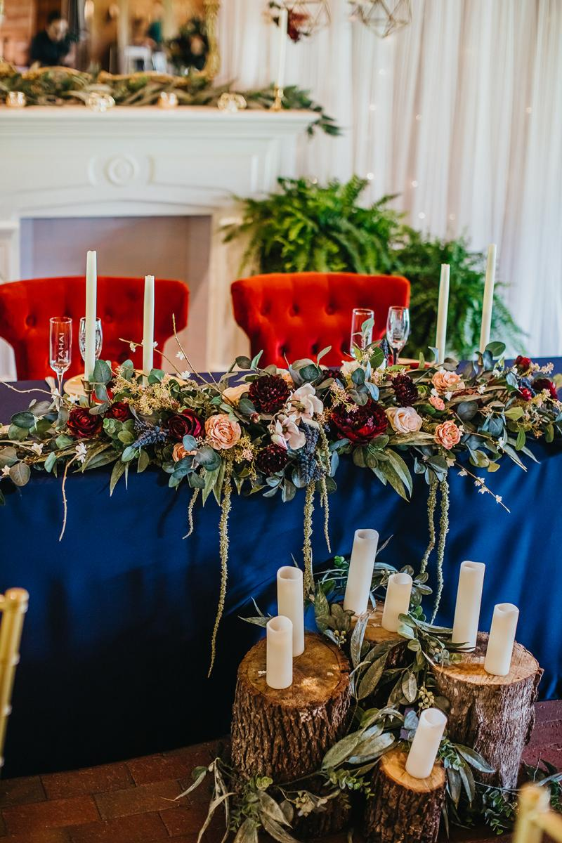 Tahai and Michael's enchanting sweetheart table decor