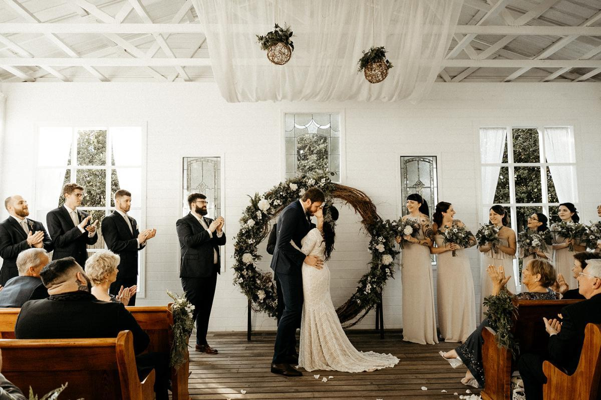 edgy and modern wedding ceremony