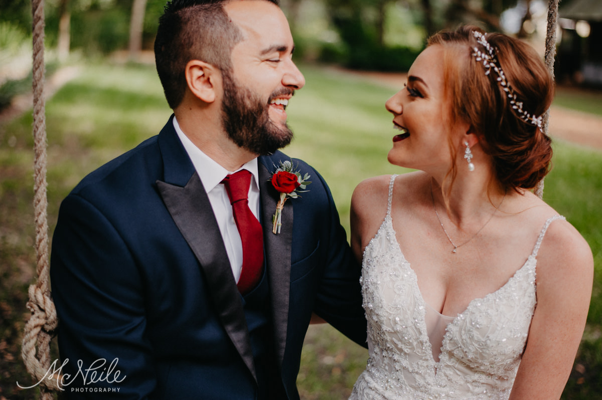 Giggly candids from a stylish bride and groom