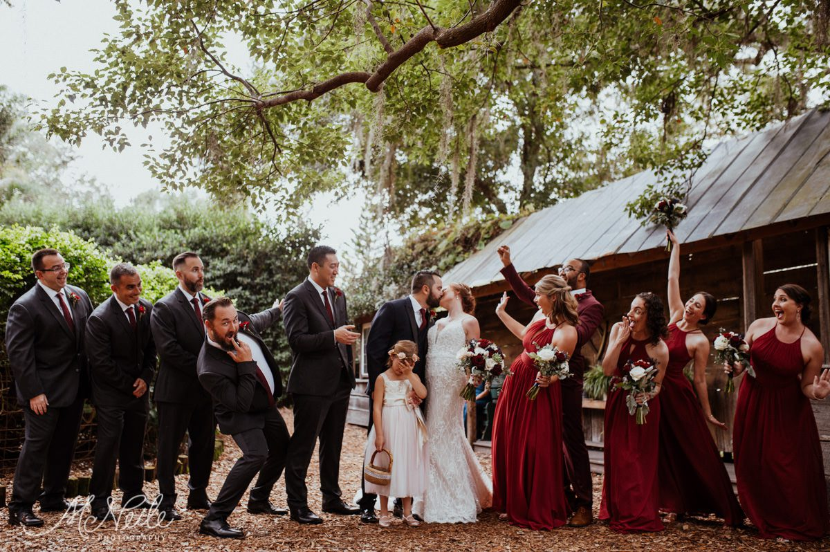 Sarah and Jakob's wedding party