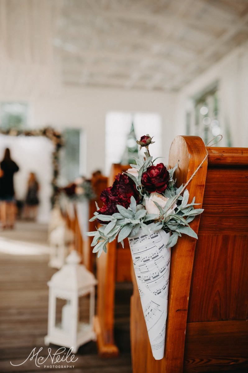 Music inspired elements can be found throughout their wedding decor