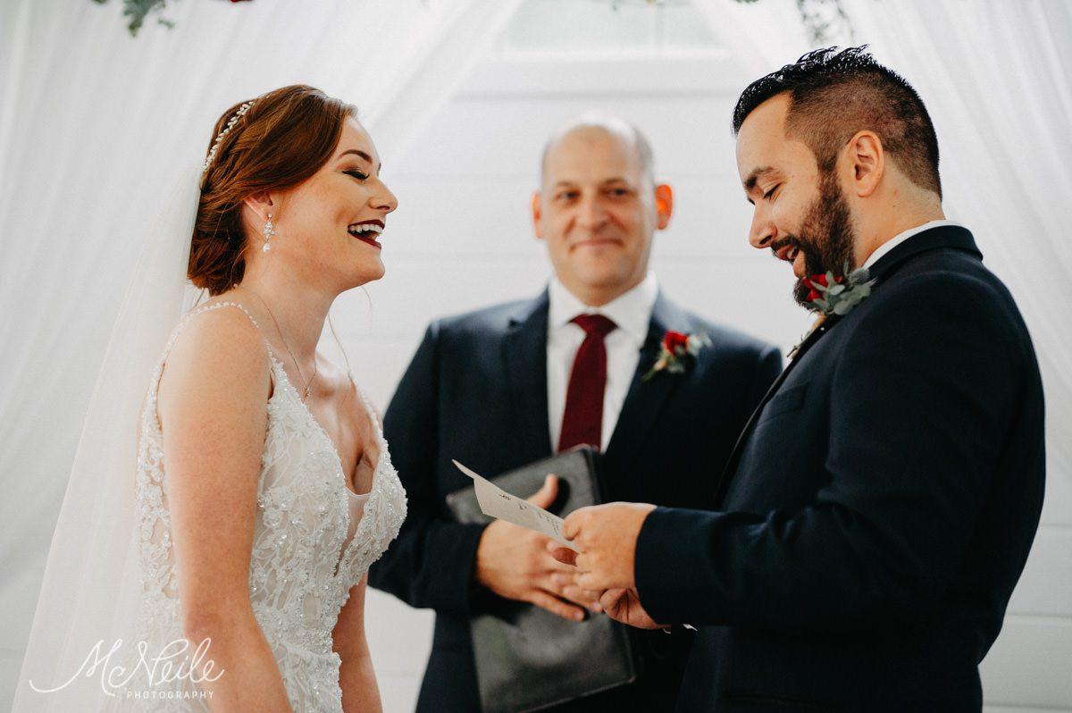 Jakob reciting his vows to Sarah