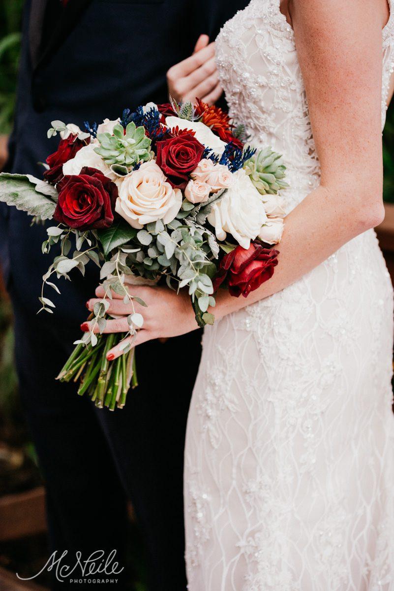 Sarah's enchanting bridal bouquet