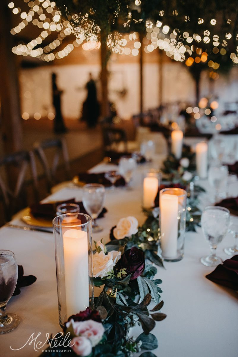 Enchanting wedding reception centerpiece