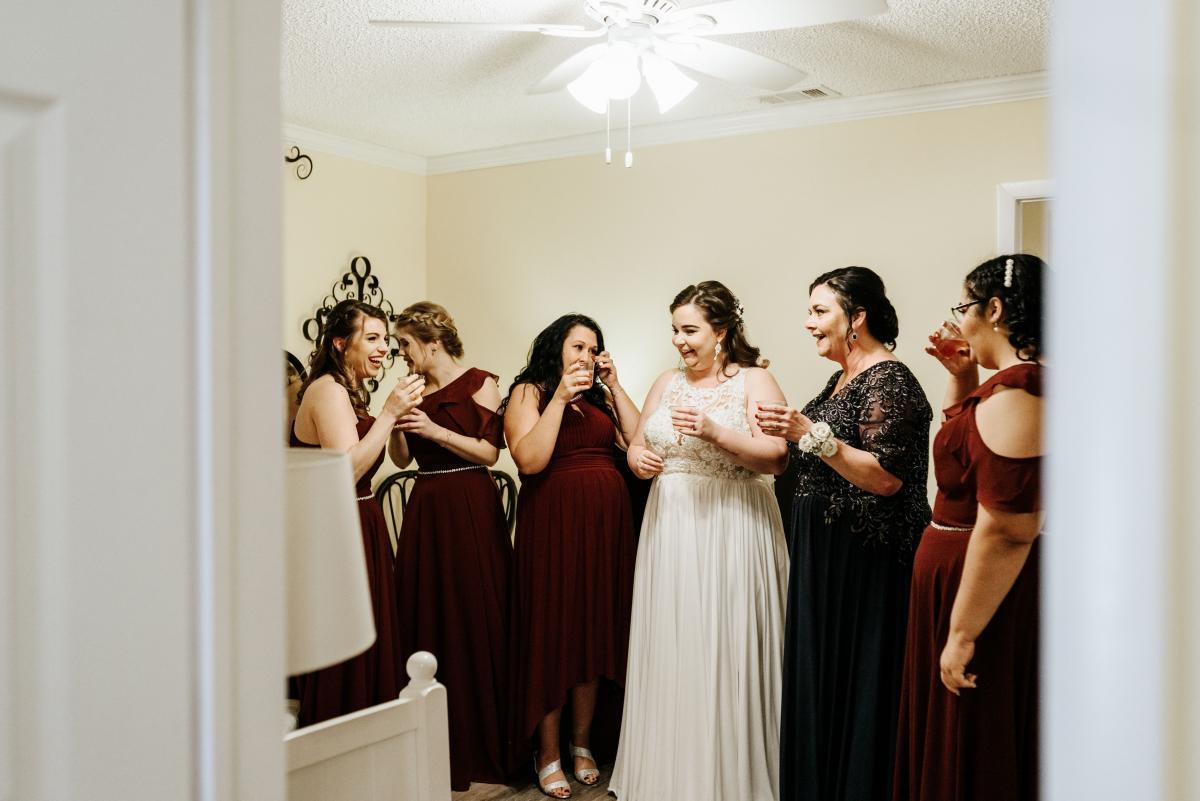 Merrisa and her bridesmaids