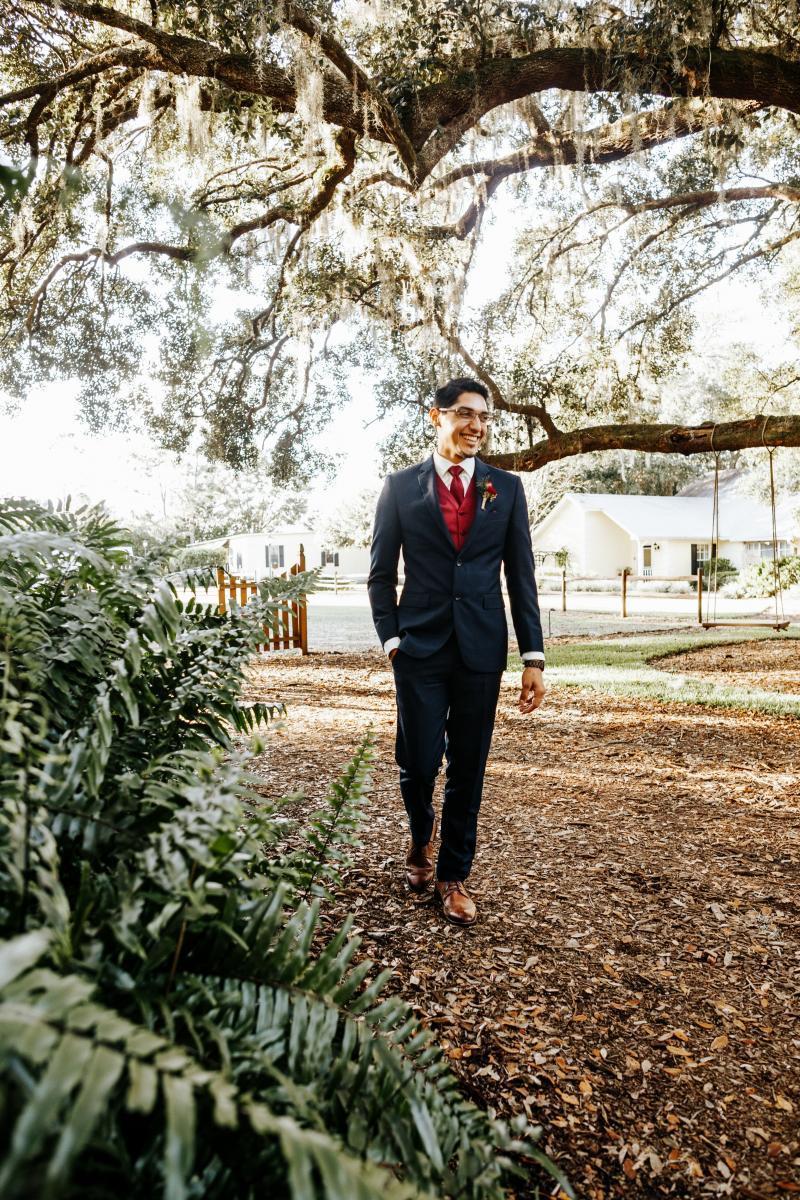 Jeremy walking on property