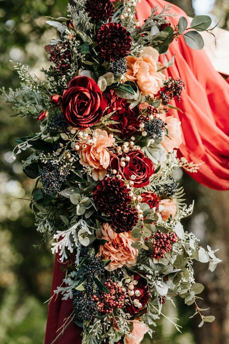 dreamy intimate wedding ceremony decor